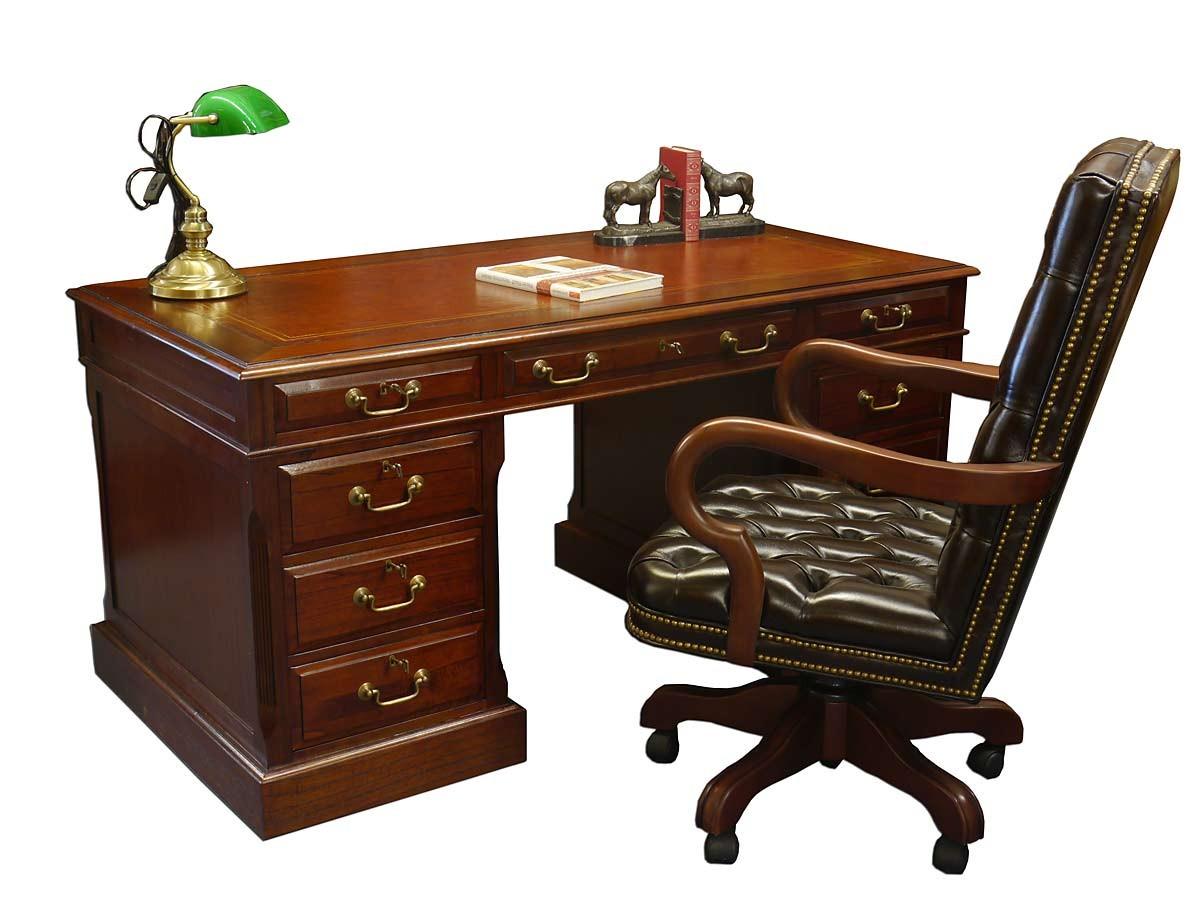 hochwertiger schreibtisch mahagoni globe wernicke mit. Black Bedroom Furniture Sets. Home Design Ideas