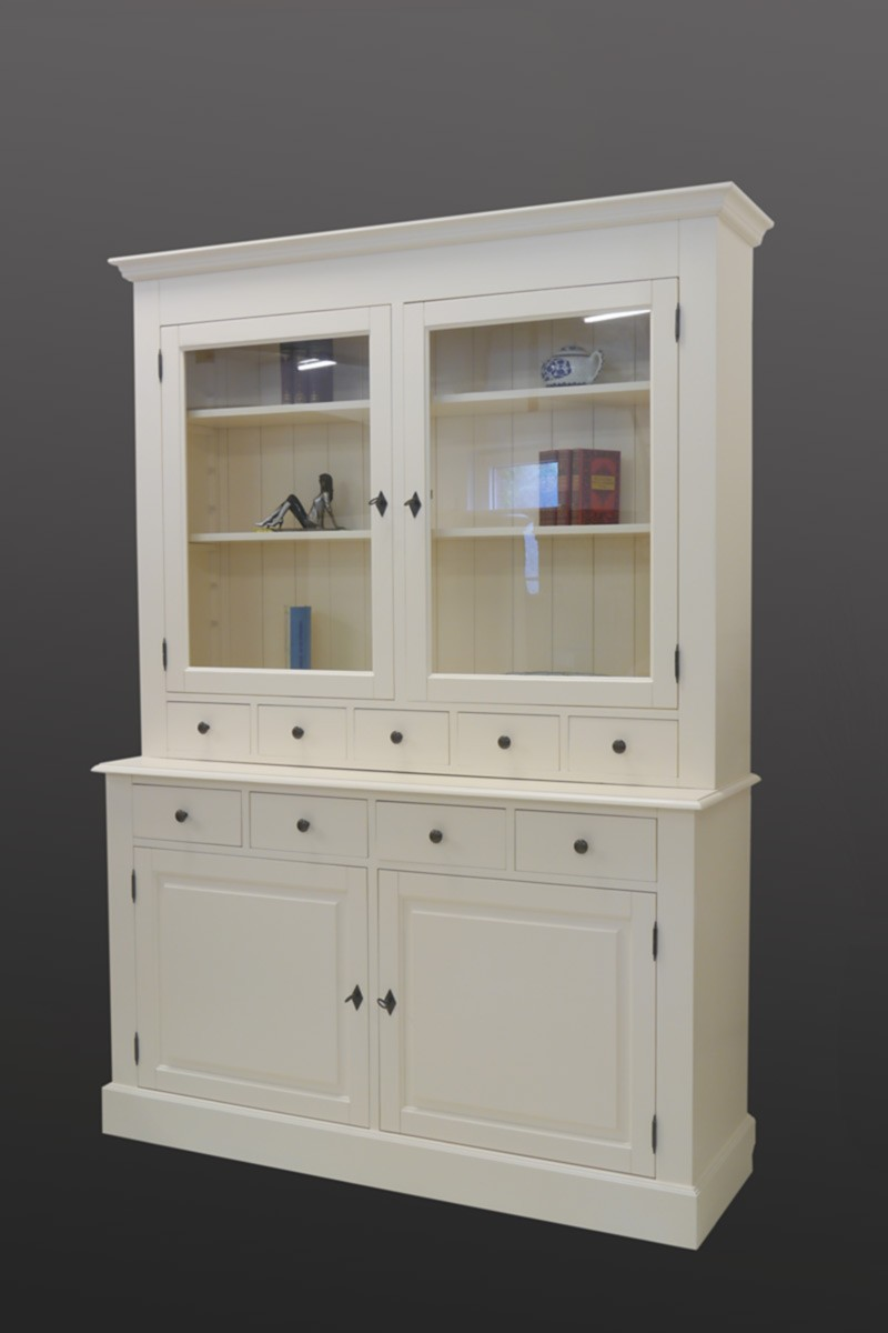 buffet schrank k chenschrank aus weichholz in creme wei im landhausstil 2027 ebay. Black Bedroom Furniture Sets. Home Design Ideas