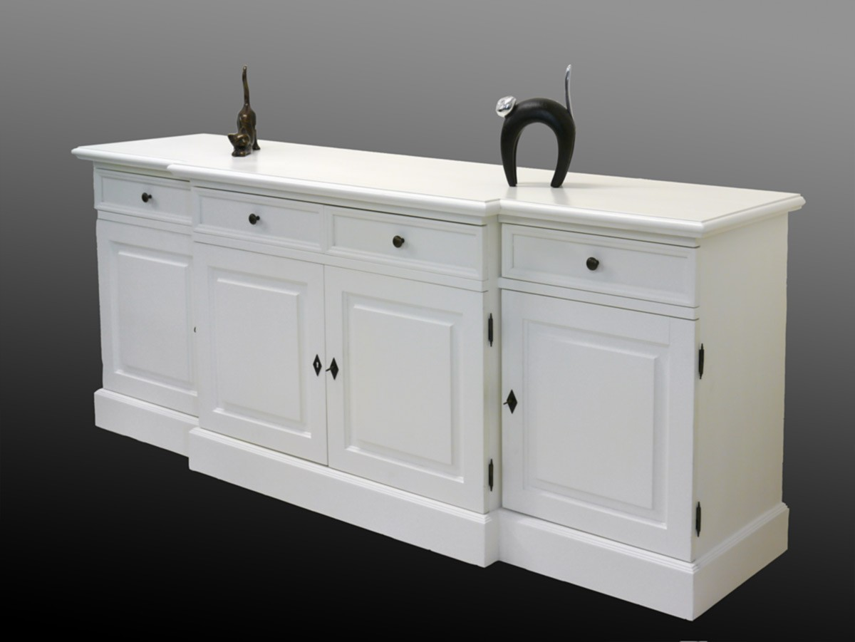 sideboard anrichte massivholz in creme wei 2056 ebay. Black Bedroom Furniture Sets. Home Design Ideas