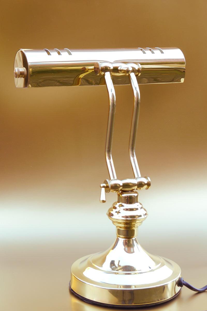 tischleuchte mit gelenkarm aus messing h 32 cm lampen. Black Bedroom Furniture Sets. Home Design Ideas