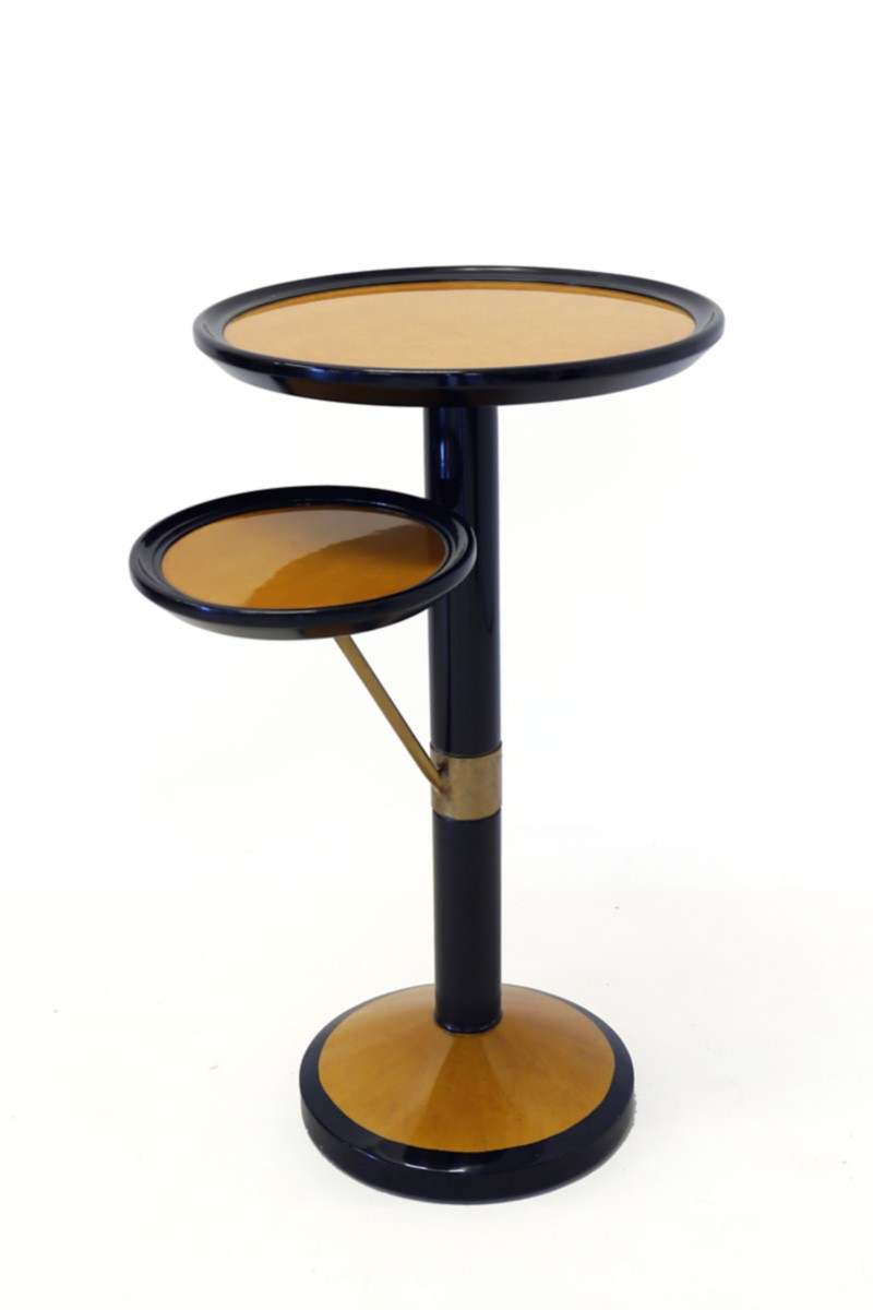 tisch beistelltisch etagere art deco stil wurzelholzfunier 2107 ebay. Black Bedroom Furniture Sets. Home Design Ideas