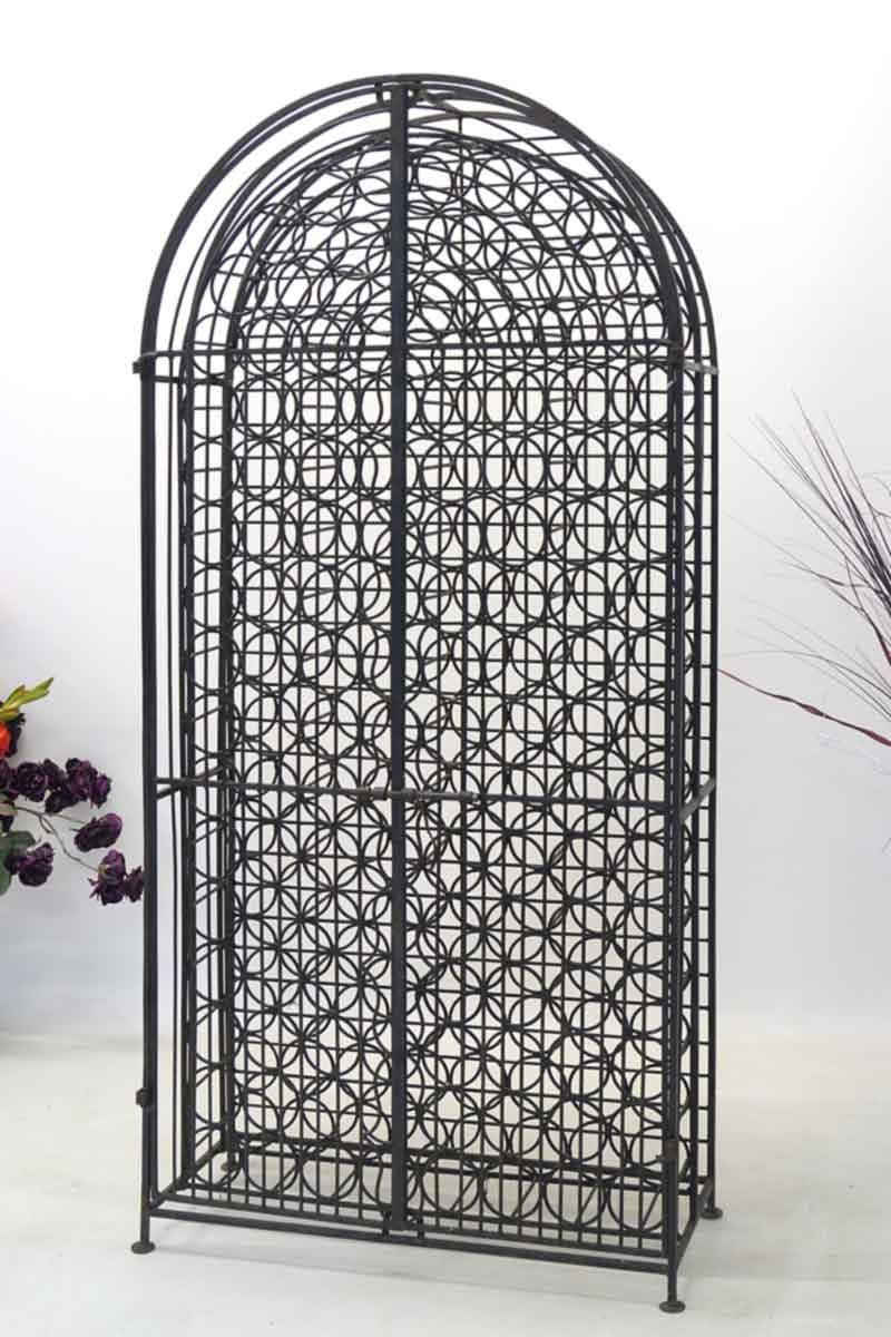 weinregal regal aus eisen in schwarz 2108. Black Bedroom Furniture Sets. Home Design Ideas