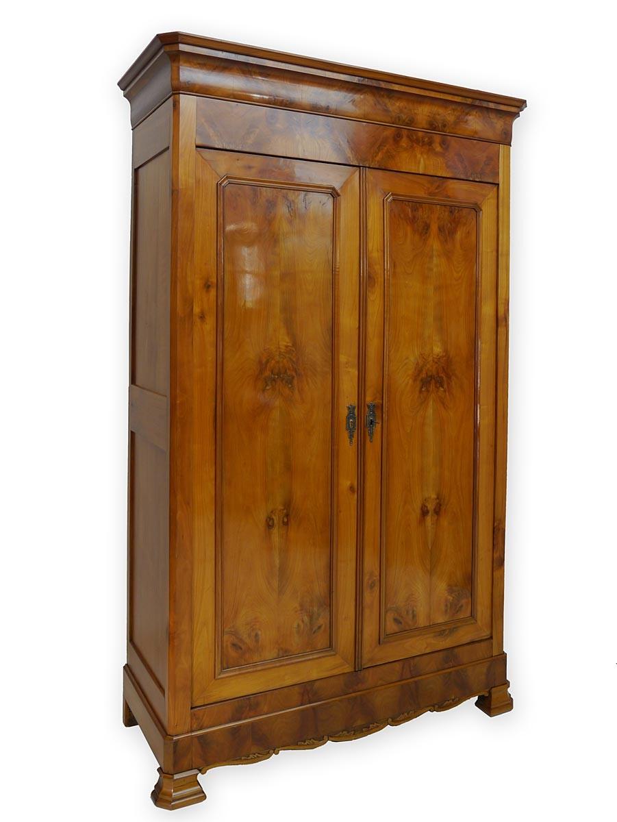 kleiderschrank schrank dielenschrank sp tbiedermeier um 1850 kirschbaum 2208 ebay. Black Bedroom Furniture Sets. Home Design Ideas