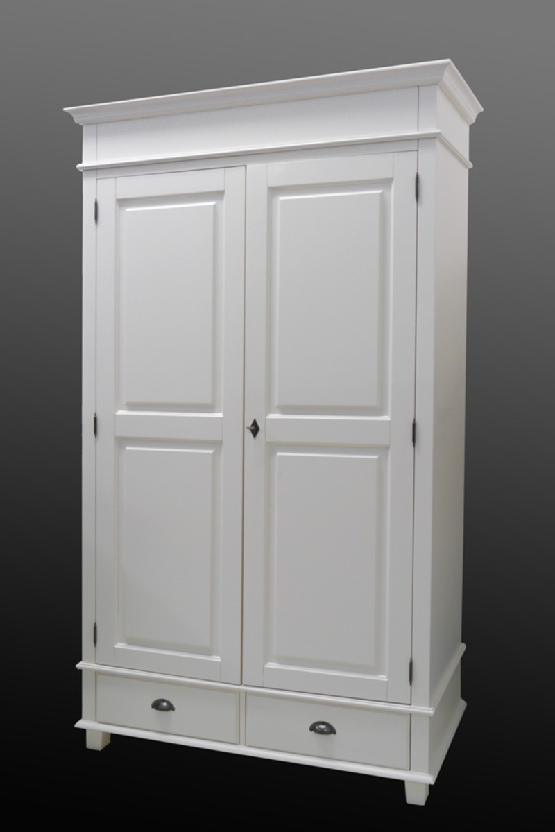kleiderschrank schrank dielenschrank cremewei im landhausstil 2233 ebay. Black Bedroom Furniture Sets. Home Design Ideas