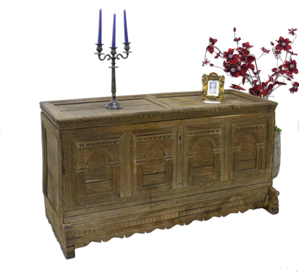 truhe holztruhe w schetruhe aus eiche massiv 2243 ebay. Black Bedroom Furniture Sets. Home Design Ideas