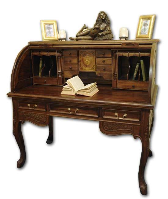 sekret r schreibtisch b rotisch mit rollverschluss antiken. Black Bedroom Furniture Sets. Home Design Ideas