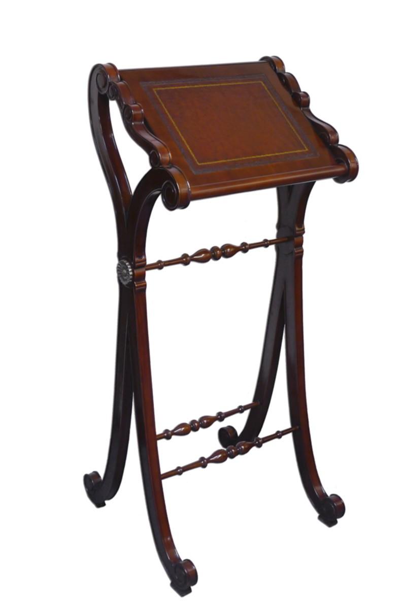 stehpult rednerpult schreibpult antiken stil mahagoni echtlederauflage 2268 ebay. Black Bedroom Furniture Sets. Home Design Ideas