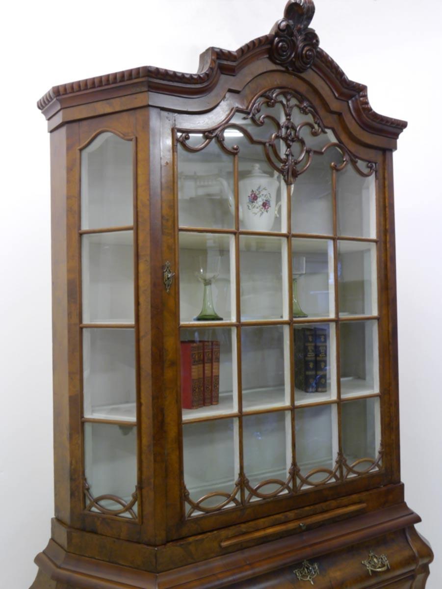 vitrine glasschrank schrank antik neobarock um 1870 2269. Black Bedroom Furniture Sets. Home Design Ideas