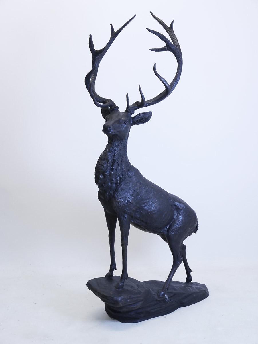 bronze figur hirsch lebensgro garten und deko 2282 ebay. Black Bedroom Furniture Sets. Home Design Ideas