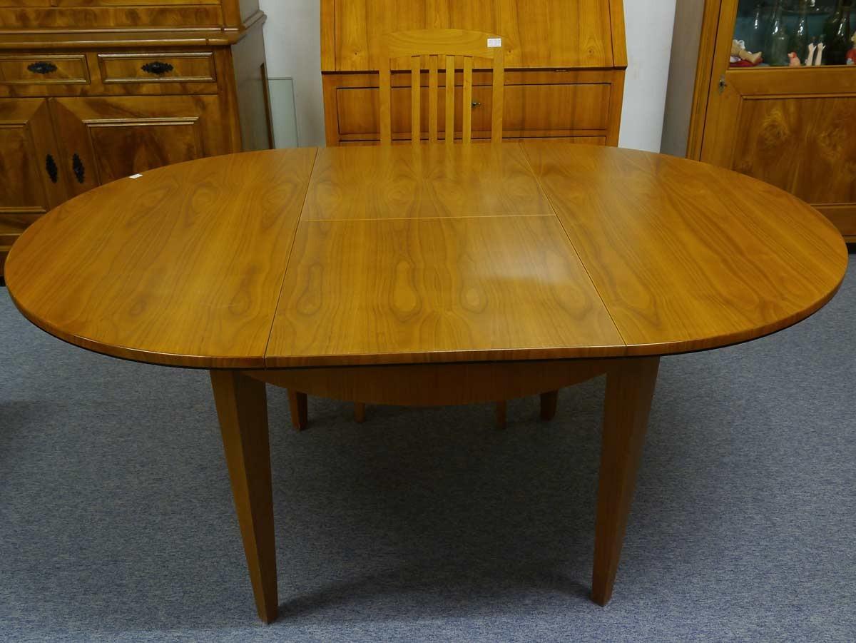 esstisch tisch rund biedermeier stil kirschbaum furniert ausziehbar 2293 ebay