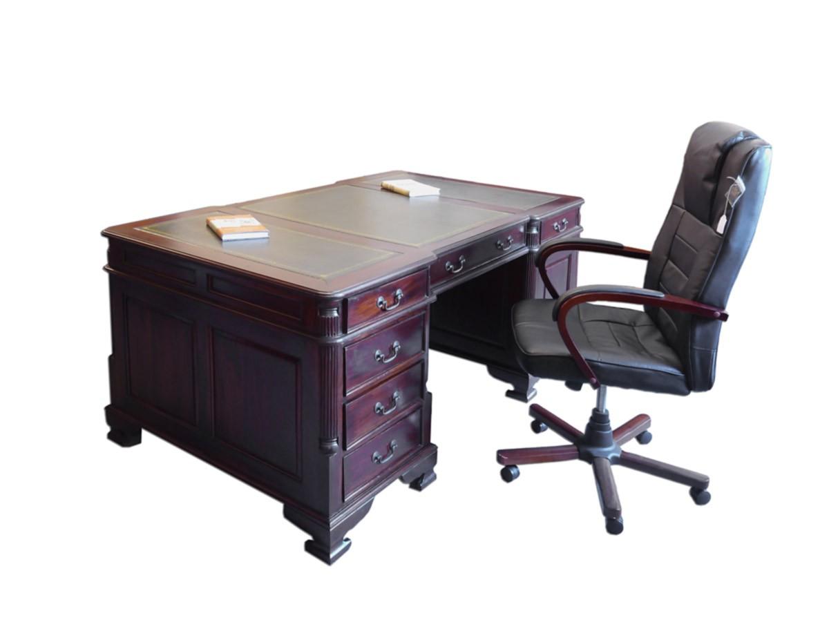 Schreibtisch Büromöbel Partnerdesk Antiker Stil Mahagoni (2336) | eBay
