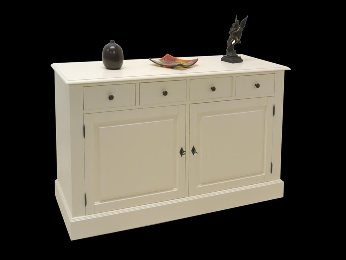 stilvolles sideboard im landhausstil in creme wei. Black Bedroom Furniture Sets. Home Design Ideas