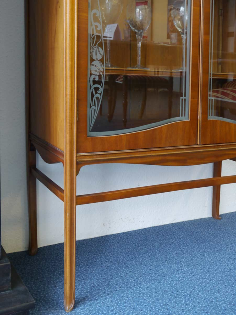 vitrine schrank vitrinenschrank im antiken stil aus mahagoni 2390 ebay. Black Bedroom Furniture Sets. Home Design Ideas