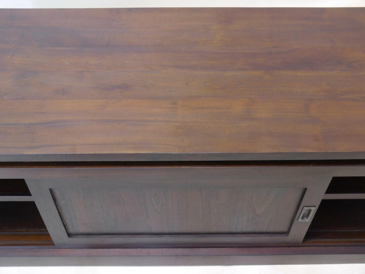 stilvolles sideboard tv schrank teakholz massiv kommoden. Black Bedroom Furniture Sets. Home Design Ideas