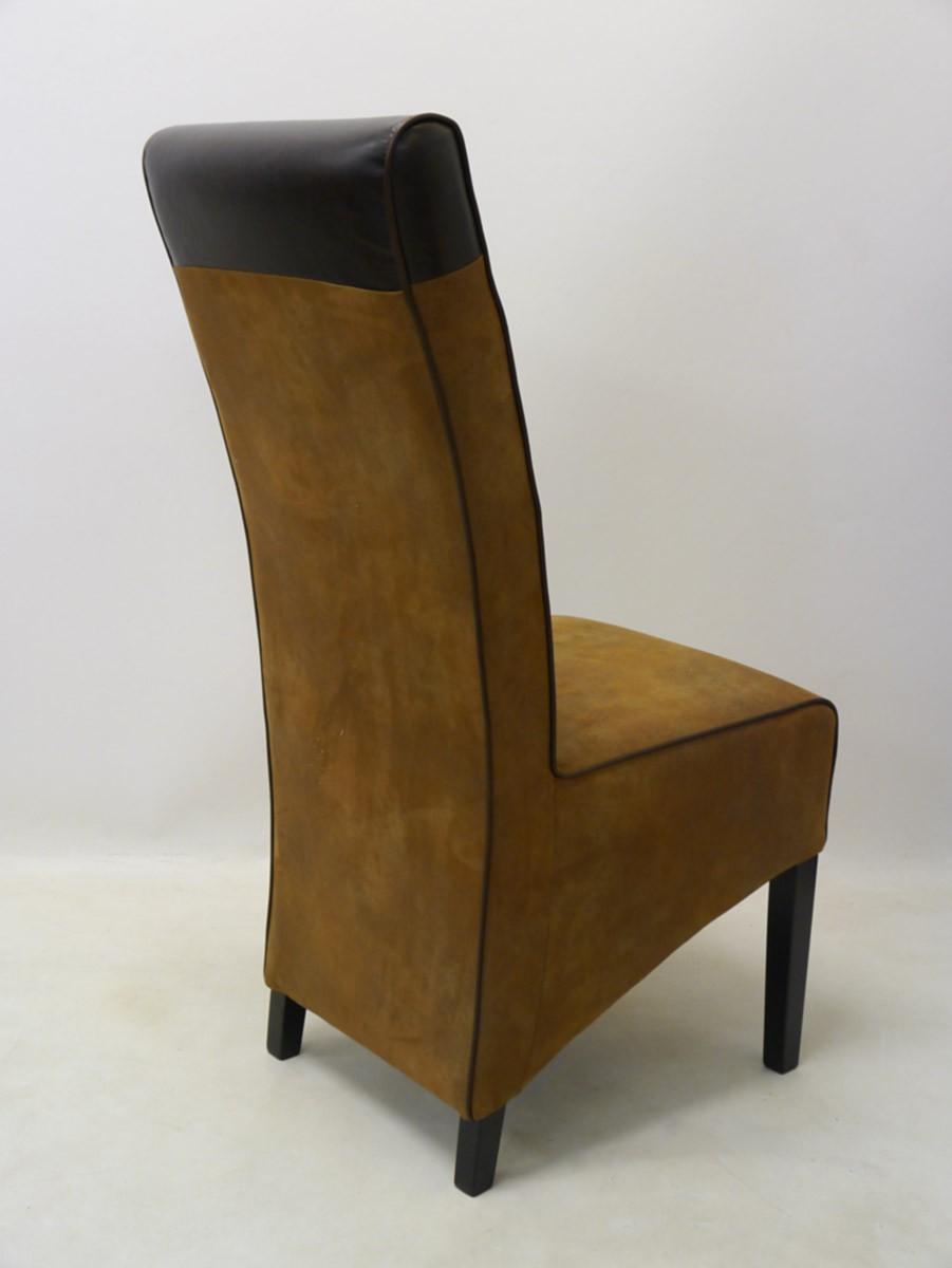 lehnstuhl mit braunem textilbezug in lederoptik sitzm bel. Black Bedroom Furniture Sets. Home Design Ideas