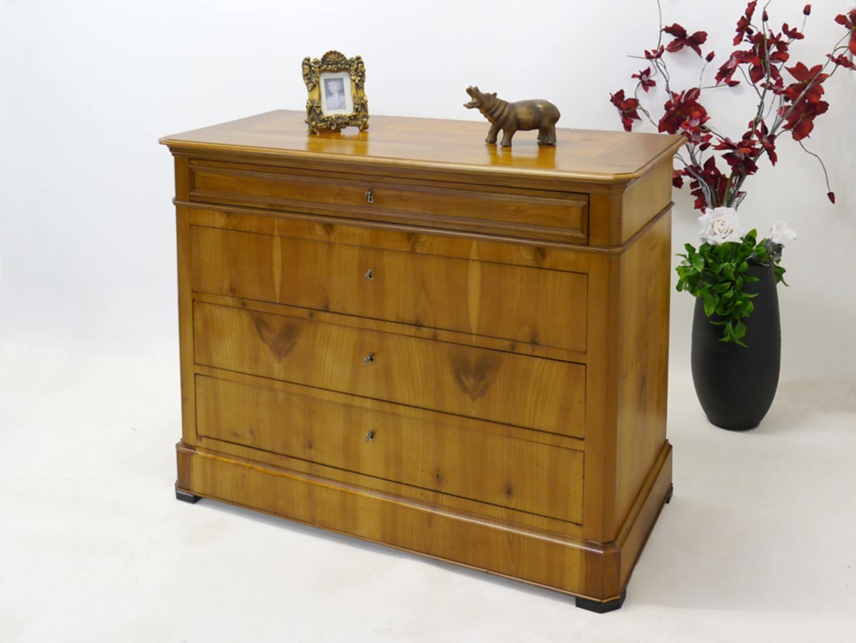 kommode anrichte schrank antik biedermeier kirschbaum 2426 ebay. Black Bedroom Furniture Sets. Home Design Ideas