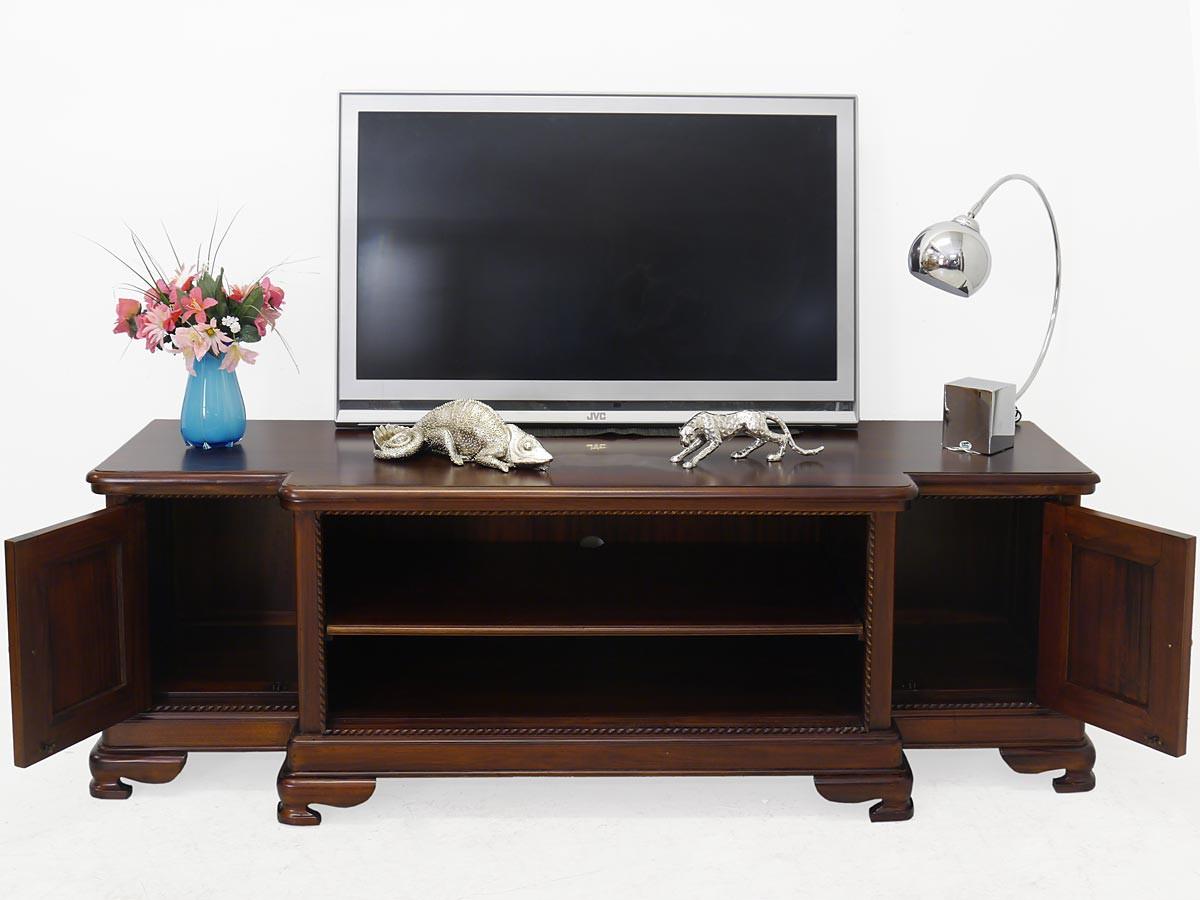 sideboard tv schrank plasmaboard aus mahagoni im antiken. Black Bedroom Furniture Sets. Home Design Ideas