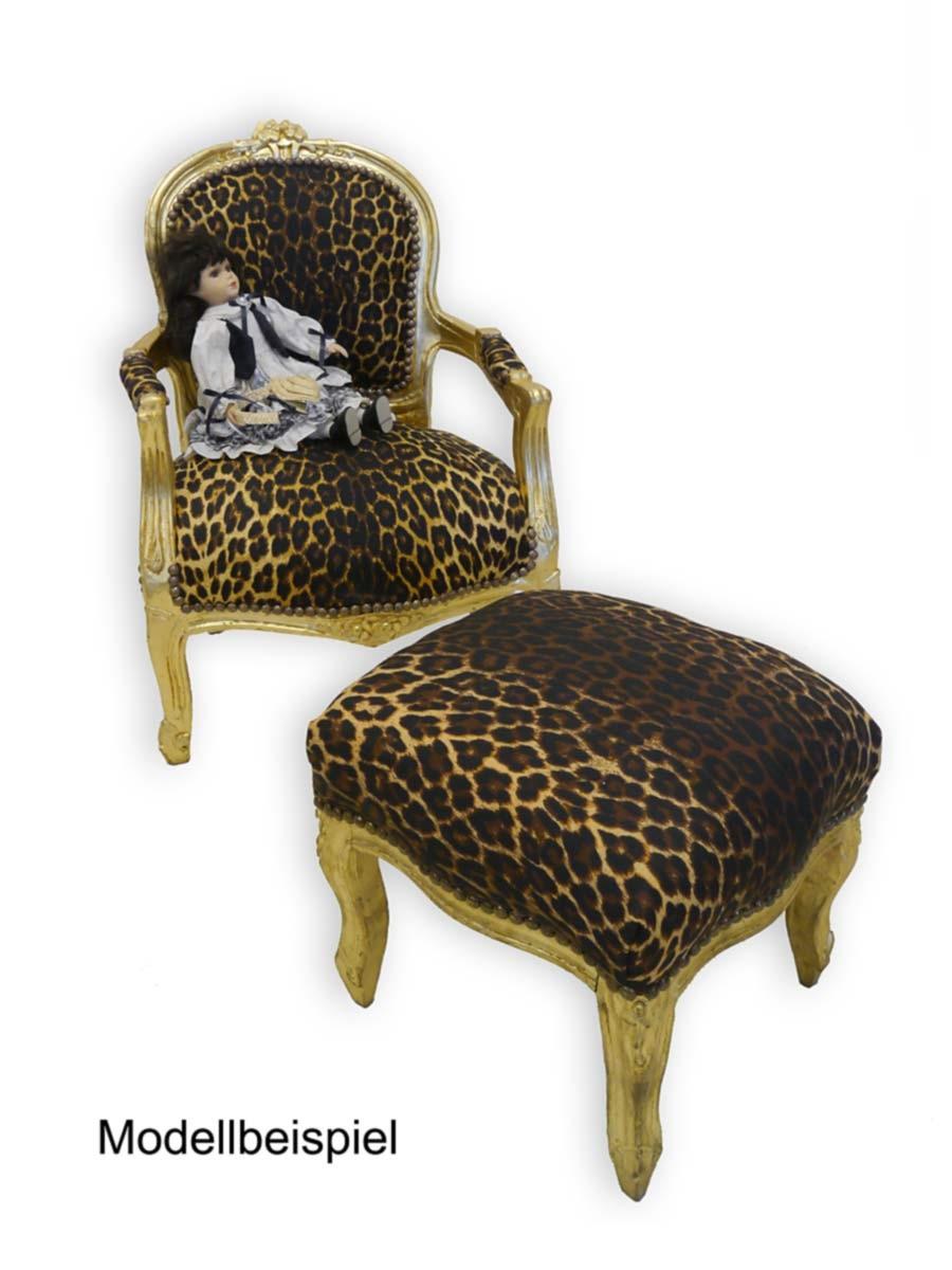 Kleiner hocker im barock stil goldfarbig sitzm bel hocker for Kleiner sessel mit hocker