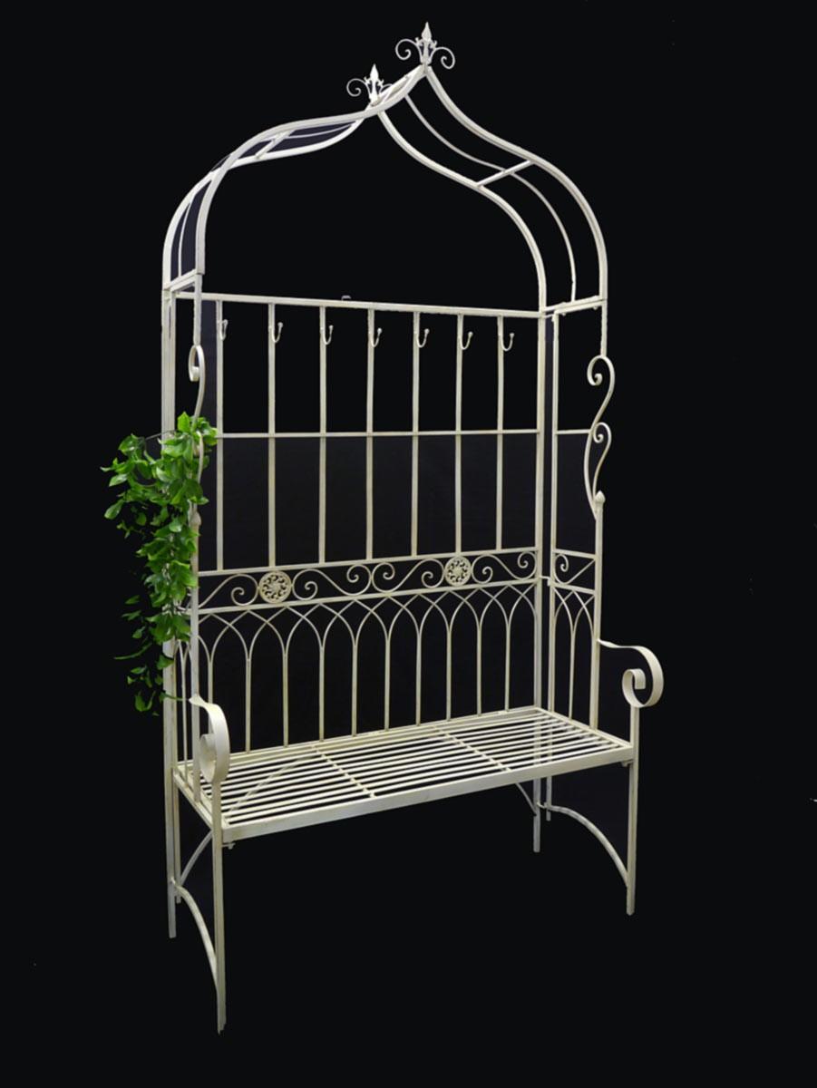 romantische sitzbank gartenlaube aus eisen im antiken. Black Bedroom Furniture Sets. Home Design Ideas