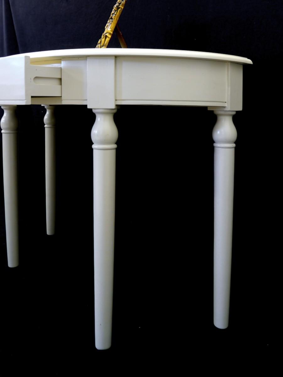 cremewei er konsolentisch mit 1 schublade tische. Black Bedroom Furniture Sets. Home Design Ideas
