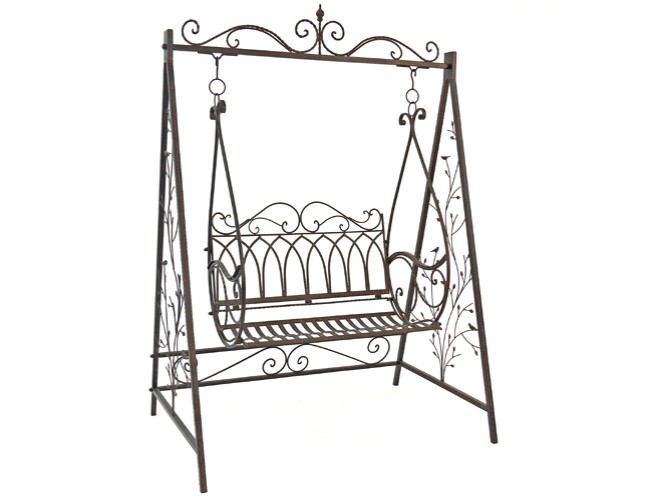 schaukel gartenschaukel gartenm bel gusseisen schwarz antik stil 2529 ebay. Black Bedroom Furniture Sets. Home Design Ideas