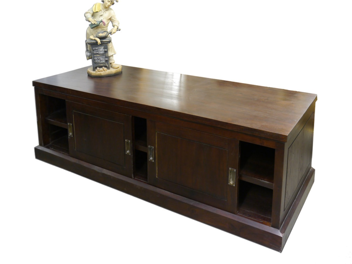 sideboard schrank anrichte kolonialstil teakholz massiv mahagoni farbton 2544 ebay. Black Bedroom Furniture Sets. Home Design Ideas
