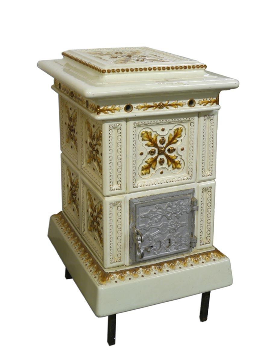 ofen kamin kachelofen antik in creme wei 2546 ebay. Black Bedroom Furniture Sets. Home Design Ideas
