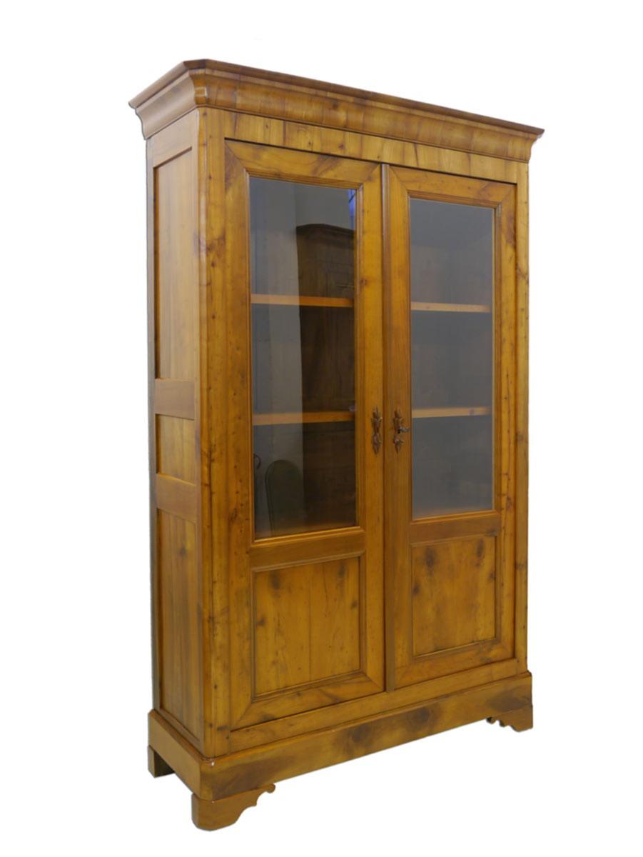 Vitrine vitrinenschrank schrank biedermeier um 1840 for Schrank vitrine