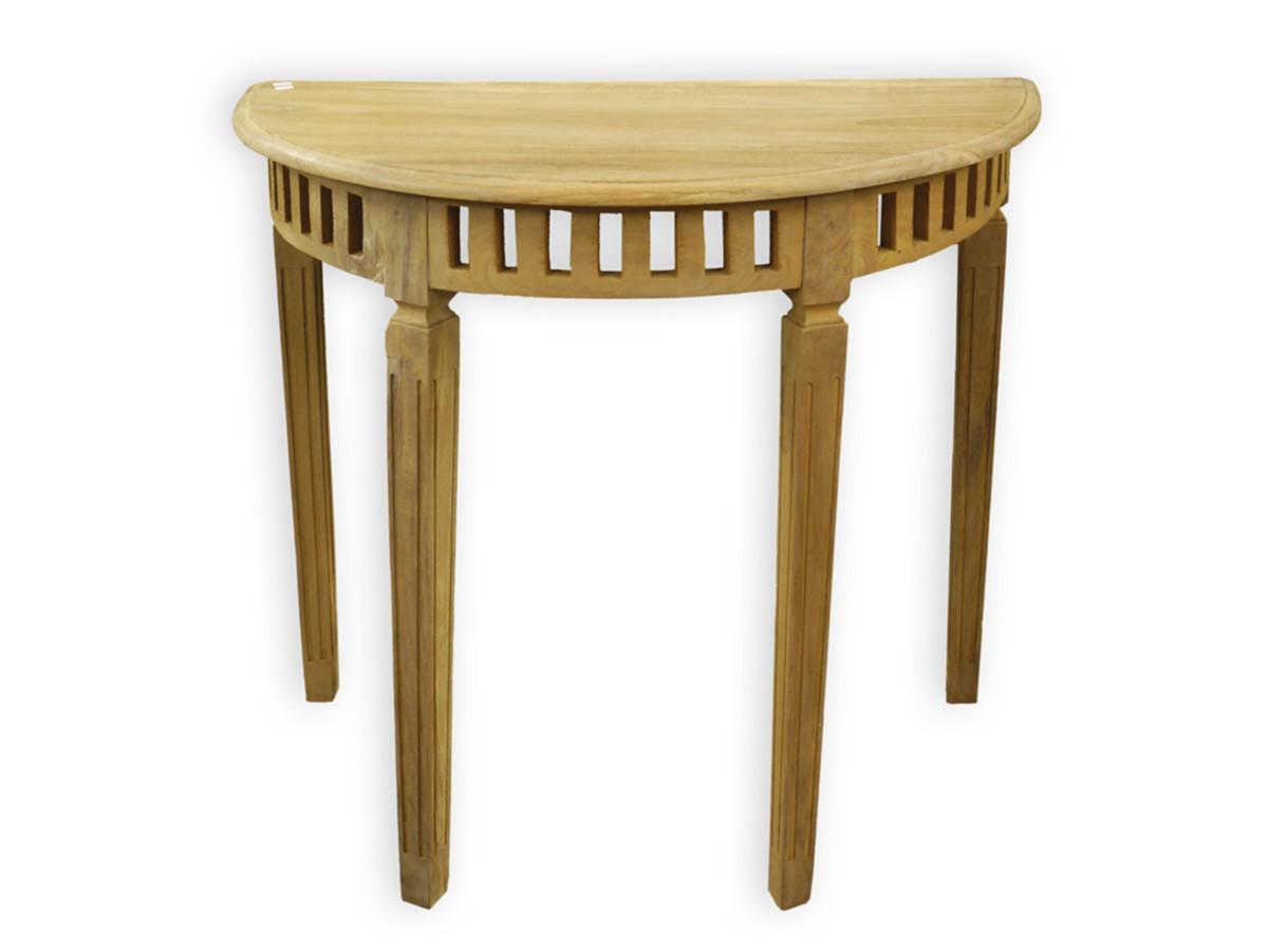 beistelltisch tisch konsolentisch mediterranen stil teakholz natur 2555 ebay. Black Bedroom Furniture Sets. Home Design Ideas