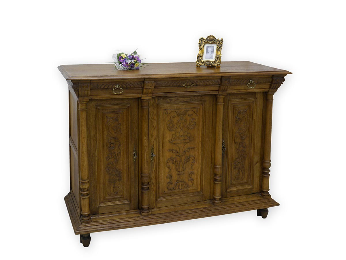 anrichte sideboard schrank antik gr nderzeit um 1880 eiche 2602 ebay. Black Bedroom Furniture Sets. Home Design Ideas