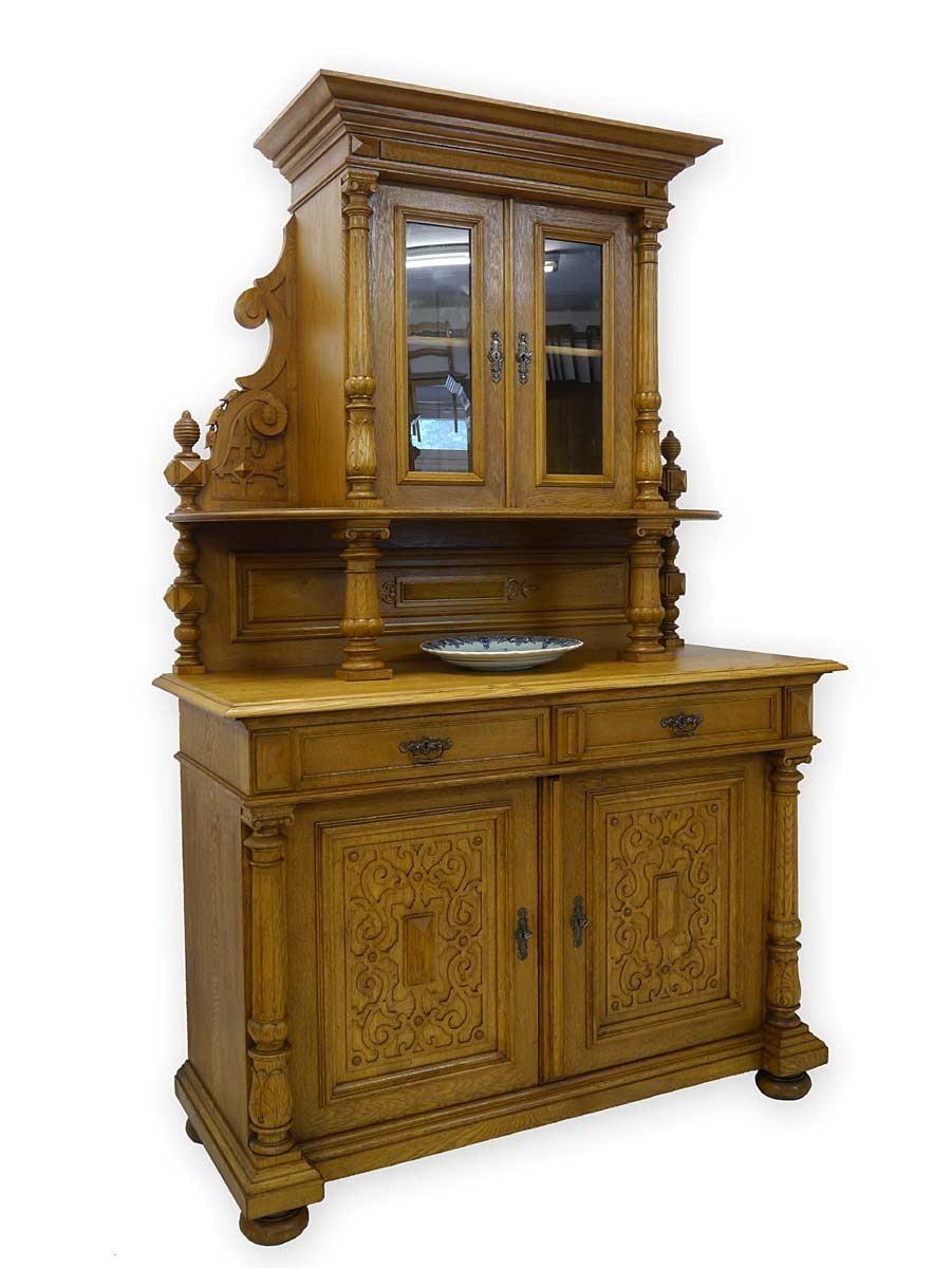 buffet k chenschrank buffetschrank antik gr nderzeit um. Black Bedroom Furniture Sets. Home Design Ideas