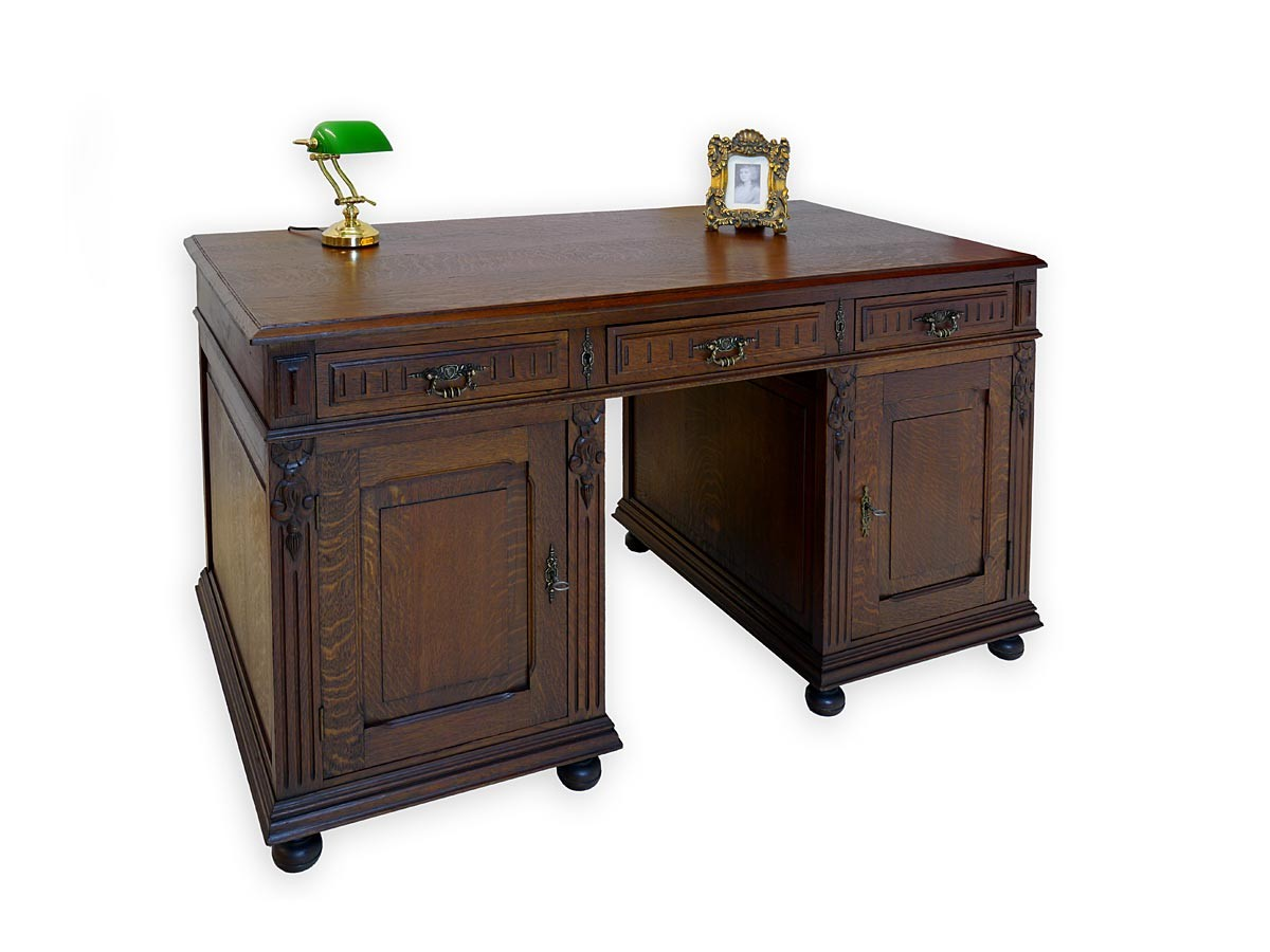 schreibtisch partnerdesk b rom bel antik gr nderzeit um. Black Bedroom Furniture Sets. Home Design Ideas