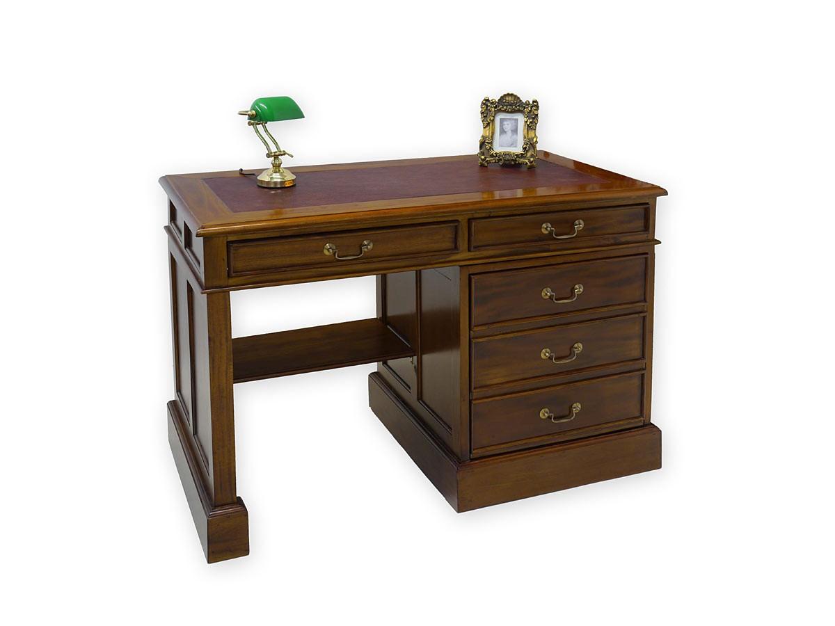schreibtisch aus massivholz lederauflage b 120. Black Bedroom Furniture Sets. Home Design Ideas
