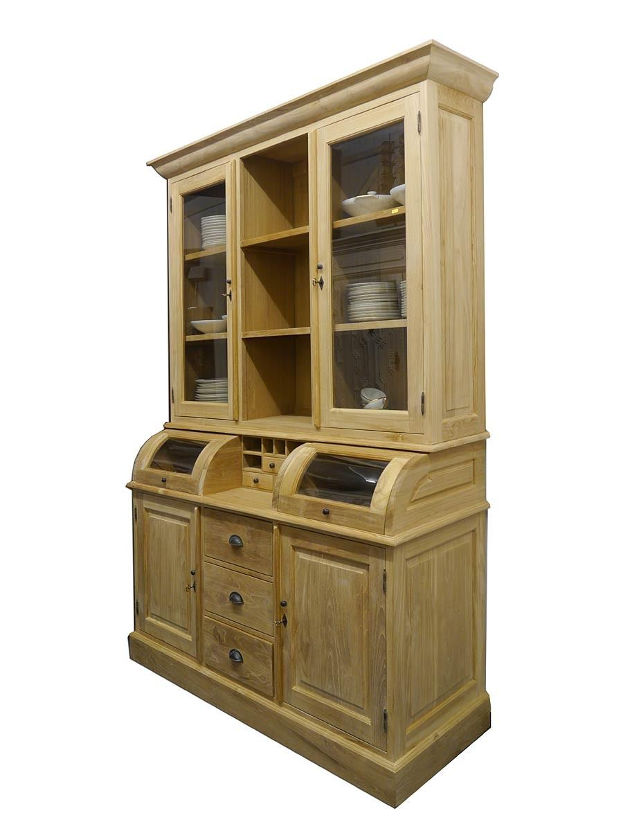 k chenbuffet im landhausstil teakholz massiv b 160. Black Bedroom Furniture Sets. Home Design Ideas