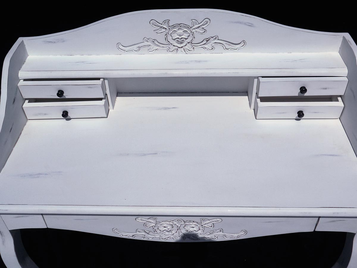 schreibtisch schreibm bel sekret r antik stil shabby chic mahagoni weiss 2641. Black Bedroom Furniture Sets. Home Design Ideas