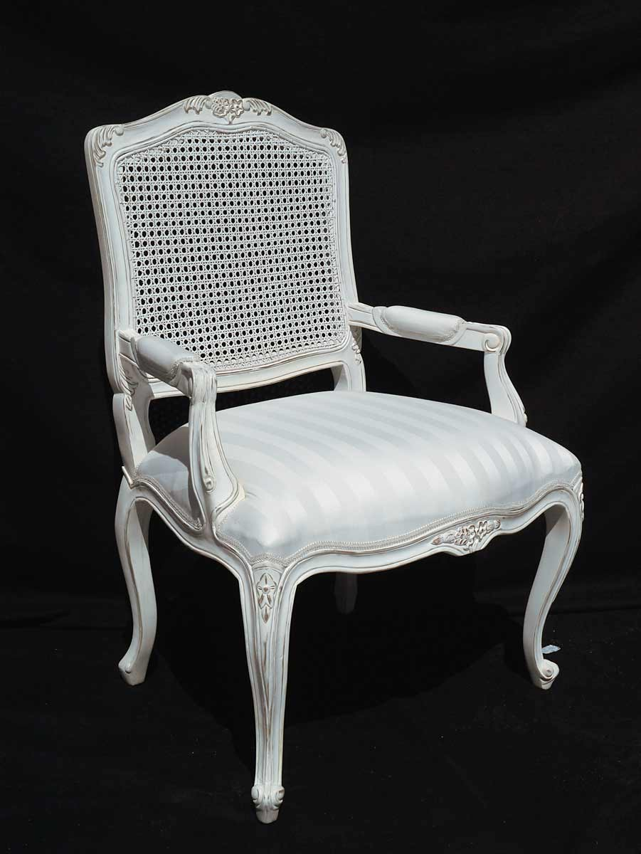 armlehnstuhl antik stil shabby chic creme wei sitzm bel. Black Bedroom Furniture Sets. Home Design Ideas