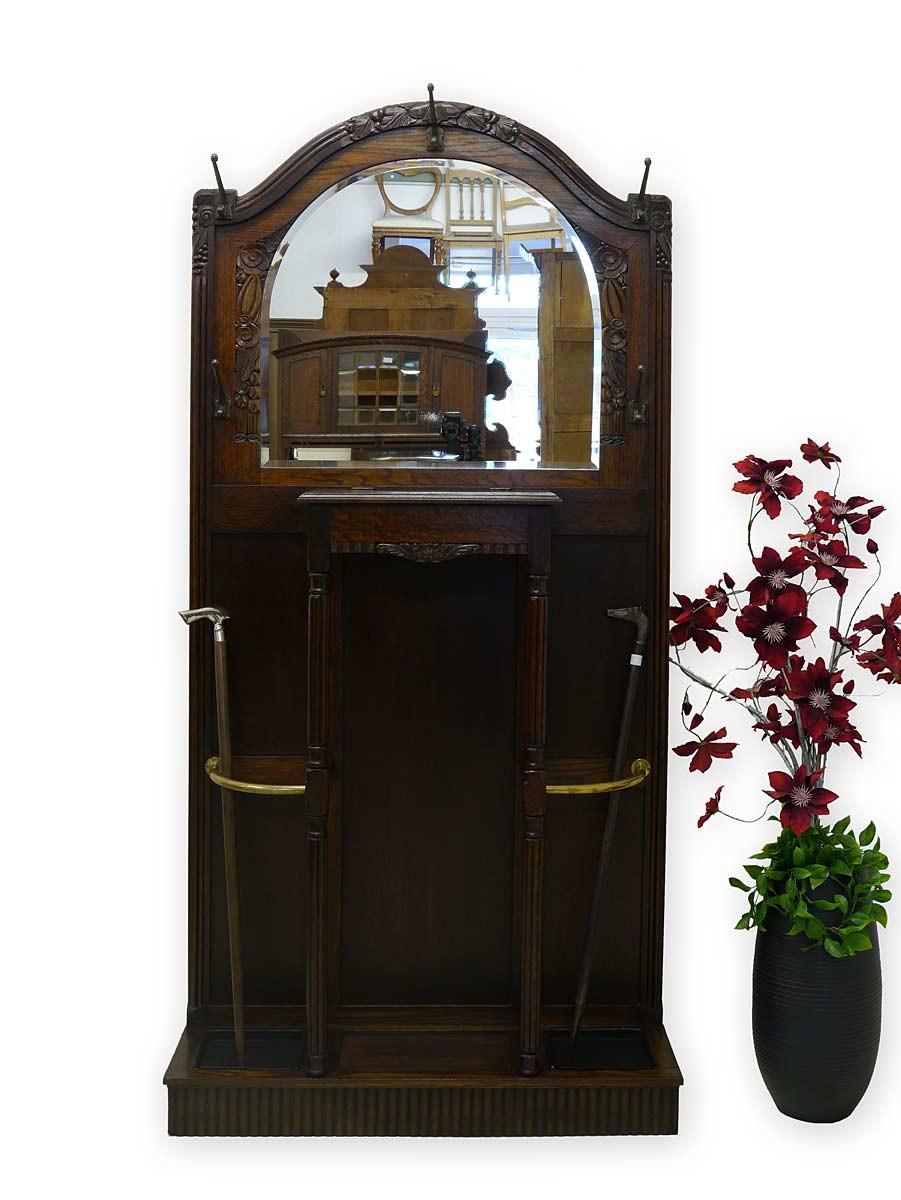 garderobe wandgarderobe dielenm bel antik um 1900 eiche massiv 2712 ebay. Black Bedroom Furniture Sets. Home Design Ideas