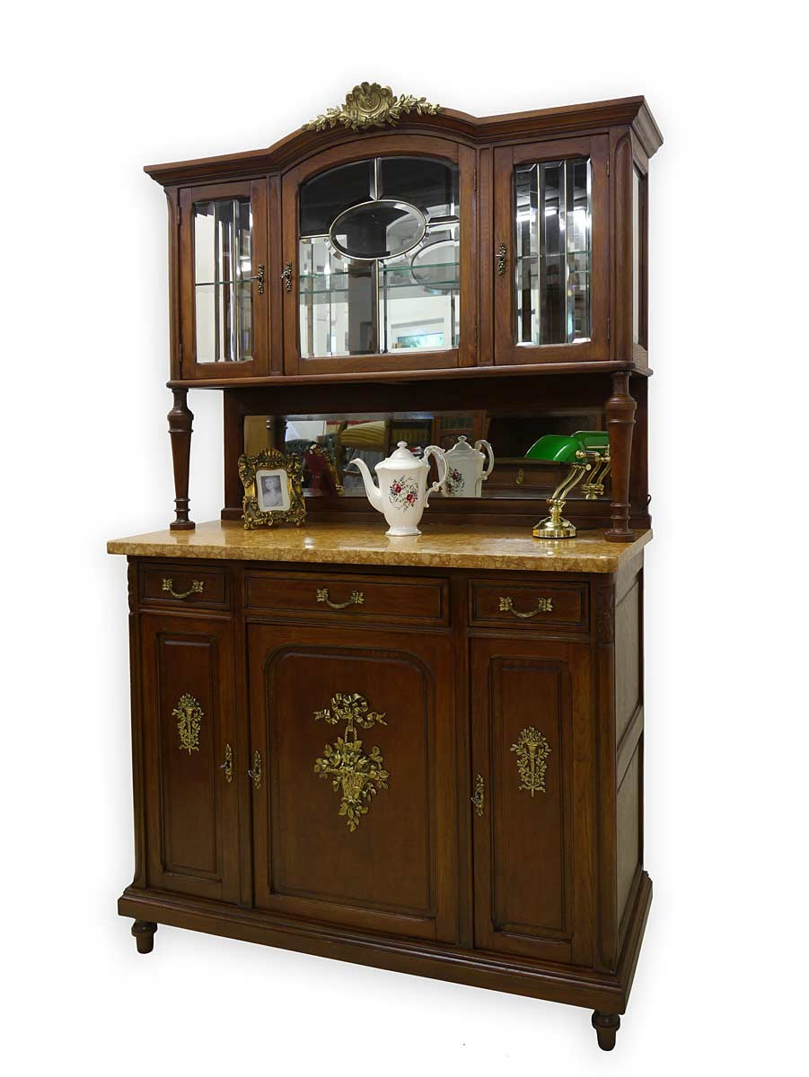 buffet schrank k chenschrank antik jugendstil um 1900 eiche massiv 2715 ebay. Black Bedroom Furniture Sets. Home Design Ideas