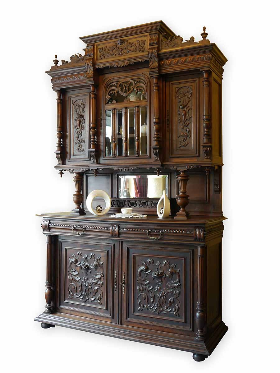 buffet buffetschrank k chenschrank gr nderzeit um 1880 eiche 2722 ebay. Black Bedroom Furniture Sets. Home Design Ideas