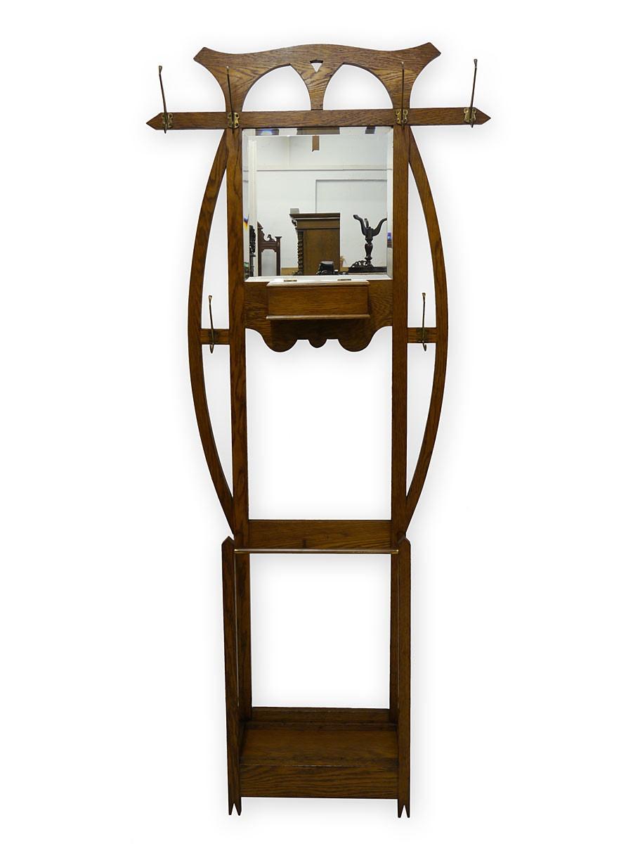 Garderobe wandgarderobe dielenm bel jugendstil um 1900 for Garderobe jugendstil