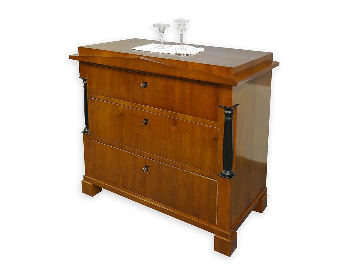 kommode w schekommode sideboard antik empire um 1830 kirschbaum 2742 ebay. Black Bedroom Furniture Sets. Home Design Ideas