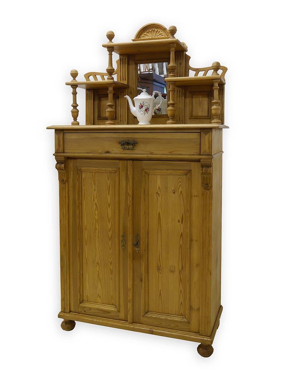 vertiko anrichte schrank mit aufsatz gr nderzeit um 1880. Black Bedroom Furniture Sets. Home Design Ideas