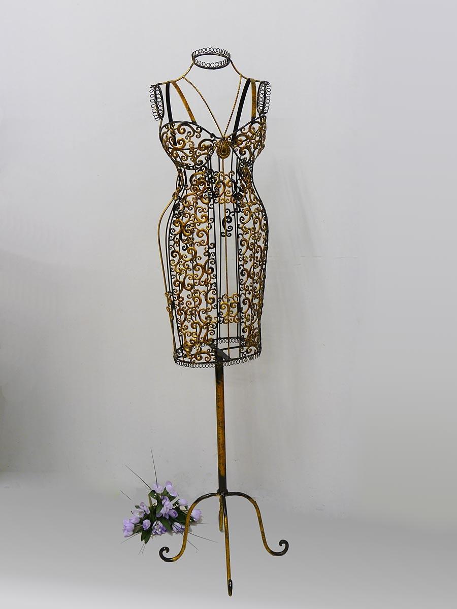 Dekorative weibliche b ste schneiderpuppe aus metall for Dekoration metall