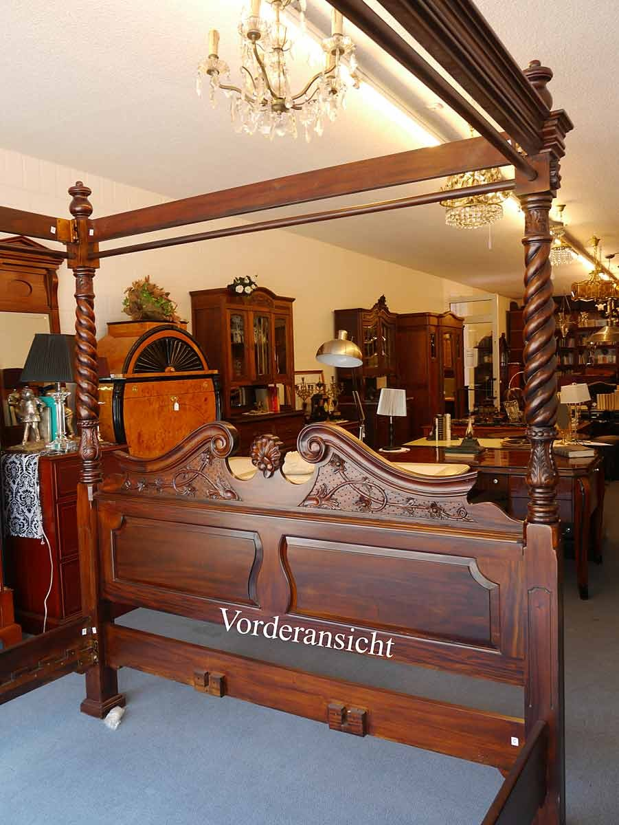 himmelbett 180 x 200 aus mahagoni im antik stil betten. Black Bedroom Furniture Sets. Home Design Ideas