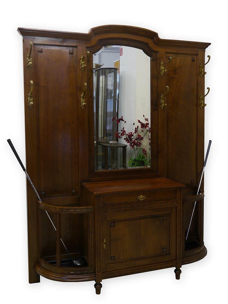 garderobe wandgarderobe flurgarderobe art deco um 1920 nussbaum 2809 ebay. Black Bedroom Furniture Sets. Home Design Ideas