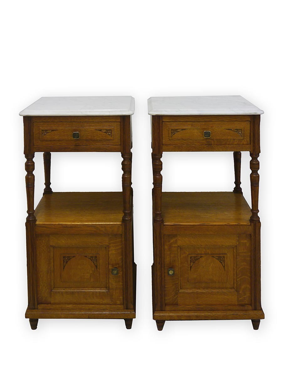 nachtkonsole nachtschrank nachttisch antik jugendstil um 1900 aus eiche 2818 ebay. Black Bedroom Furniture Sets. Home Design Ideas