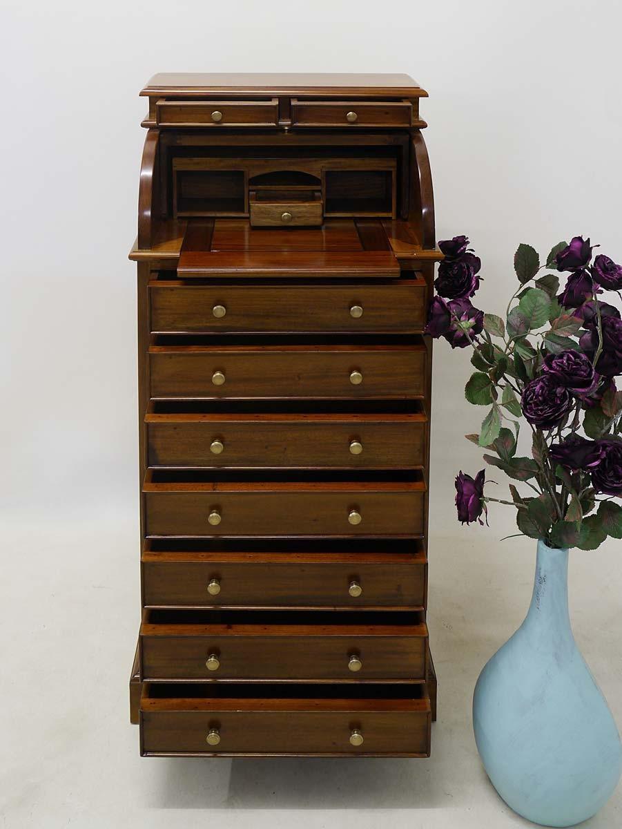 funktionale kommode mit sekret r aufsatz antik stil in massivholz kommoden und anrichten kommoden. Black Bedroom Furniture Sets. Home Design Ideas