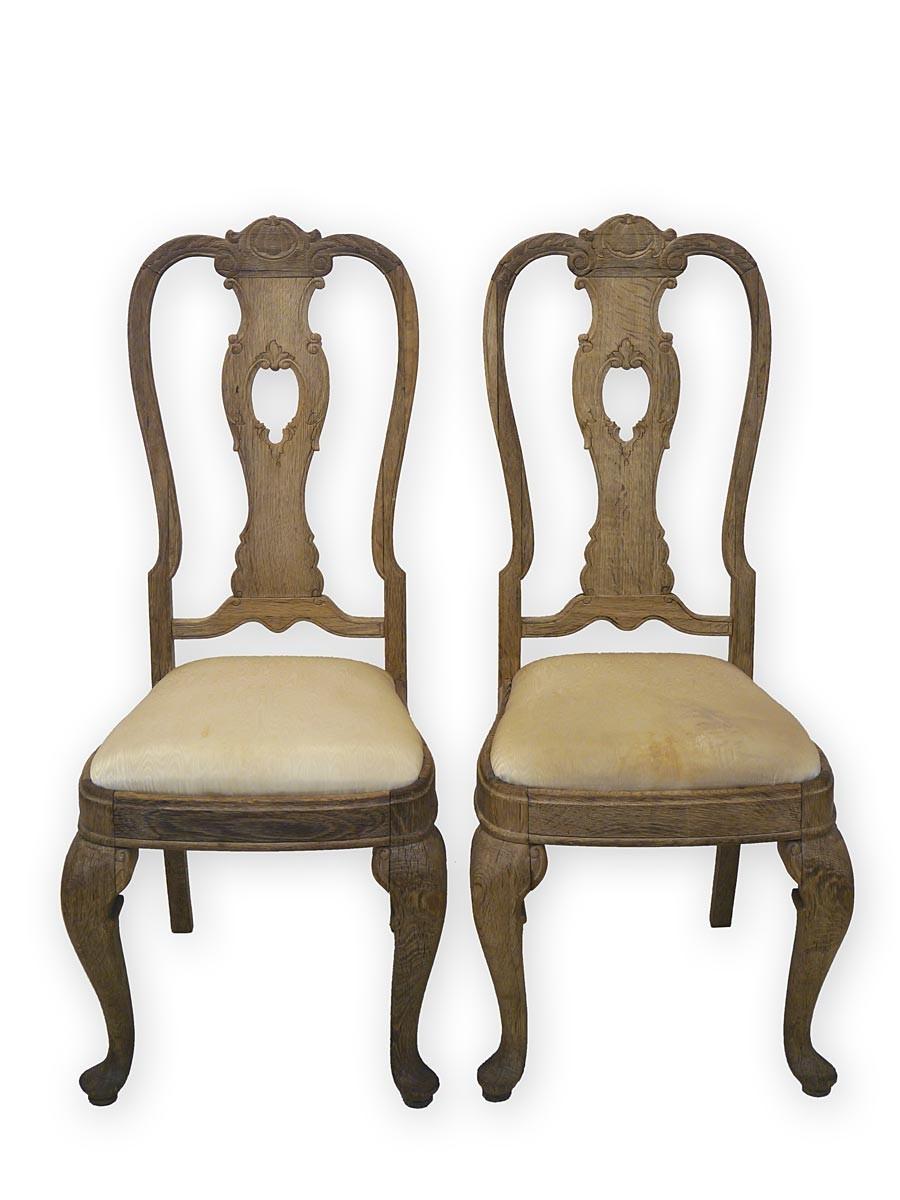 2 antike st hle um 1900 massivholz eiche ebay. Black Bedroom Furniture Sets. Home Design Ideas