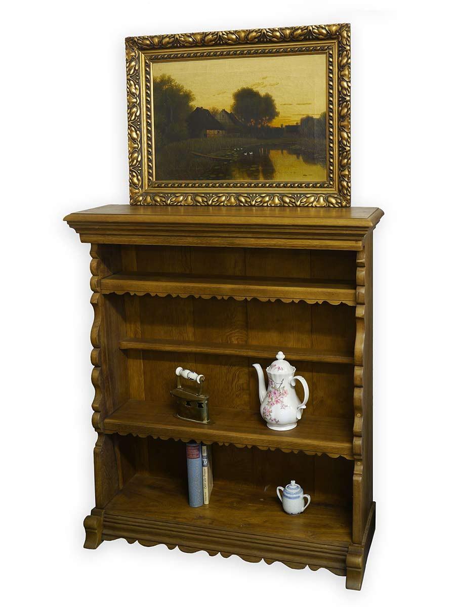 regal holzregal b cherregal rustikalen stil eiche massiv 2876 ebay. Black Bedroom Furniture Sets. Home Design Ideas