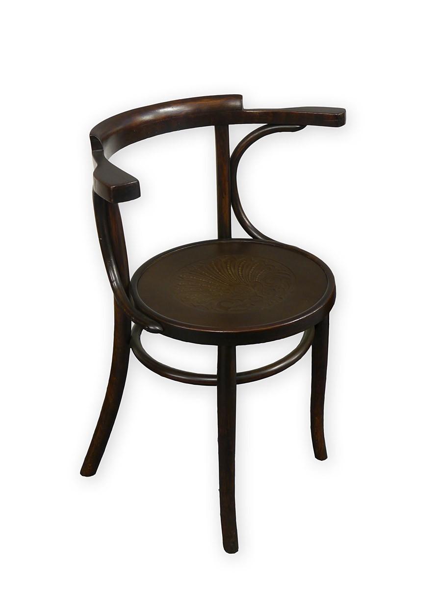 armlehnstuhl stuhl bistrostuhl massivholz runde sitzfl che. Black Bedroom Furniture Sets. Home Design Ideas